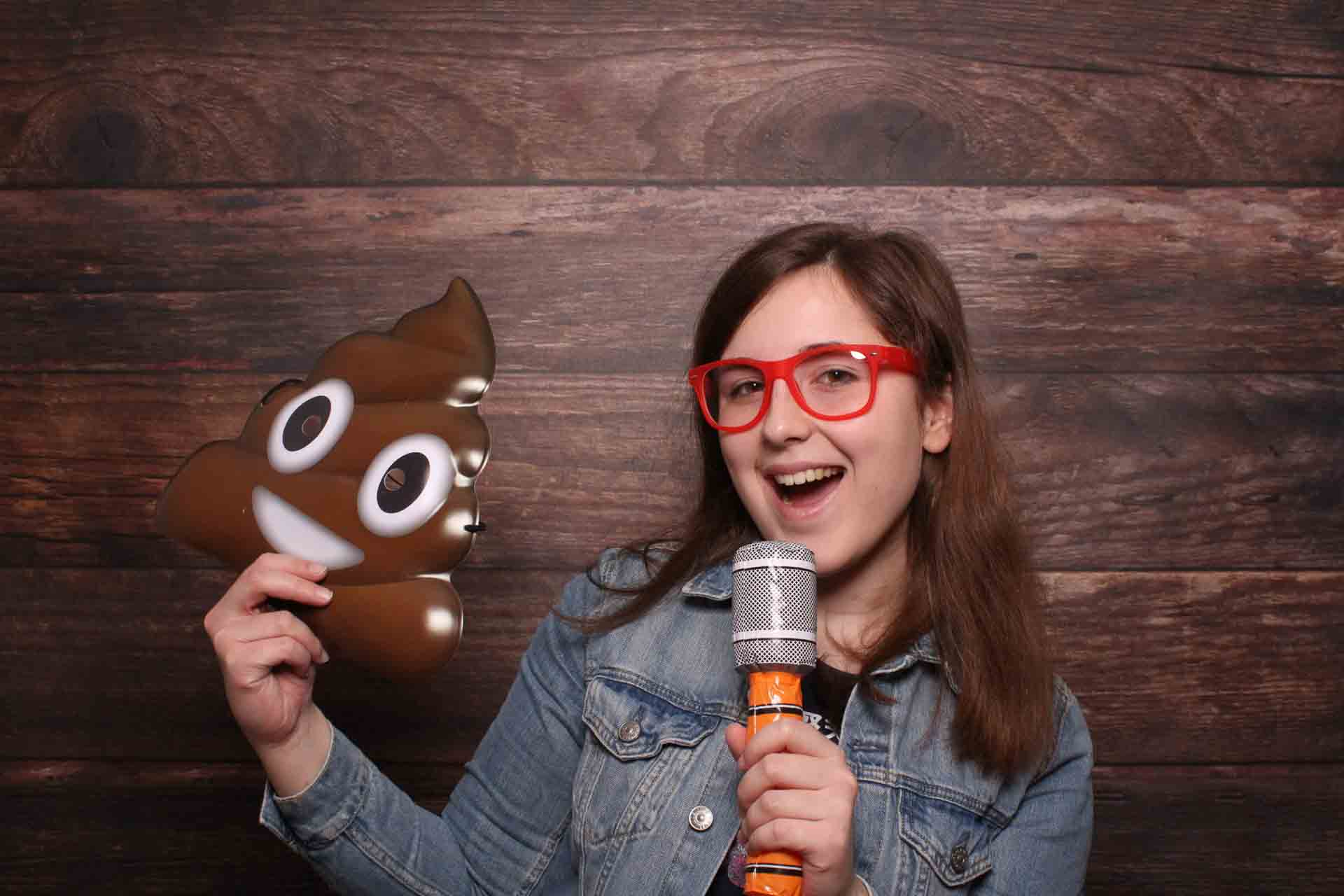 Fotobox Weinheim - Emoticon Poo