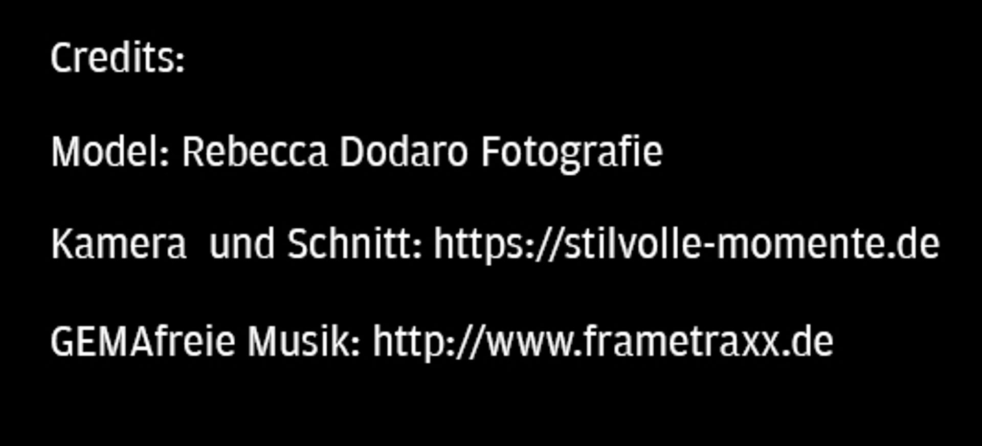 Fotobox Weinheim - Credits Movie